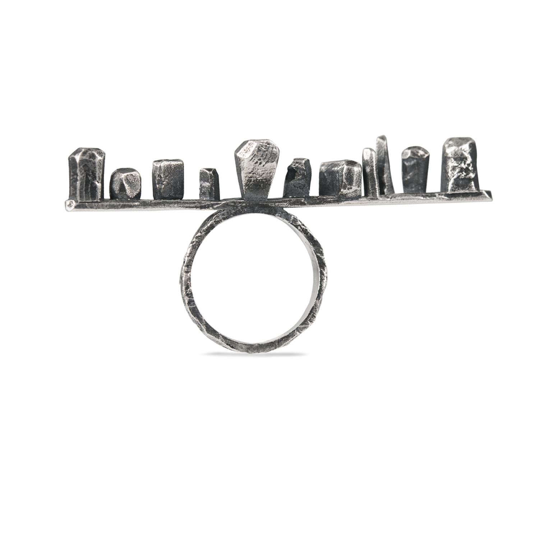 Menhir - Anello argento Rawsen