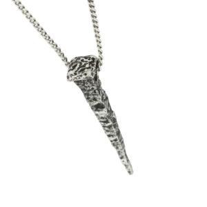 Acli silver pendant nail design