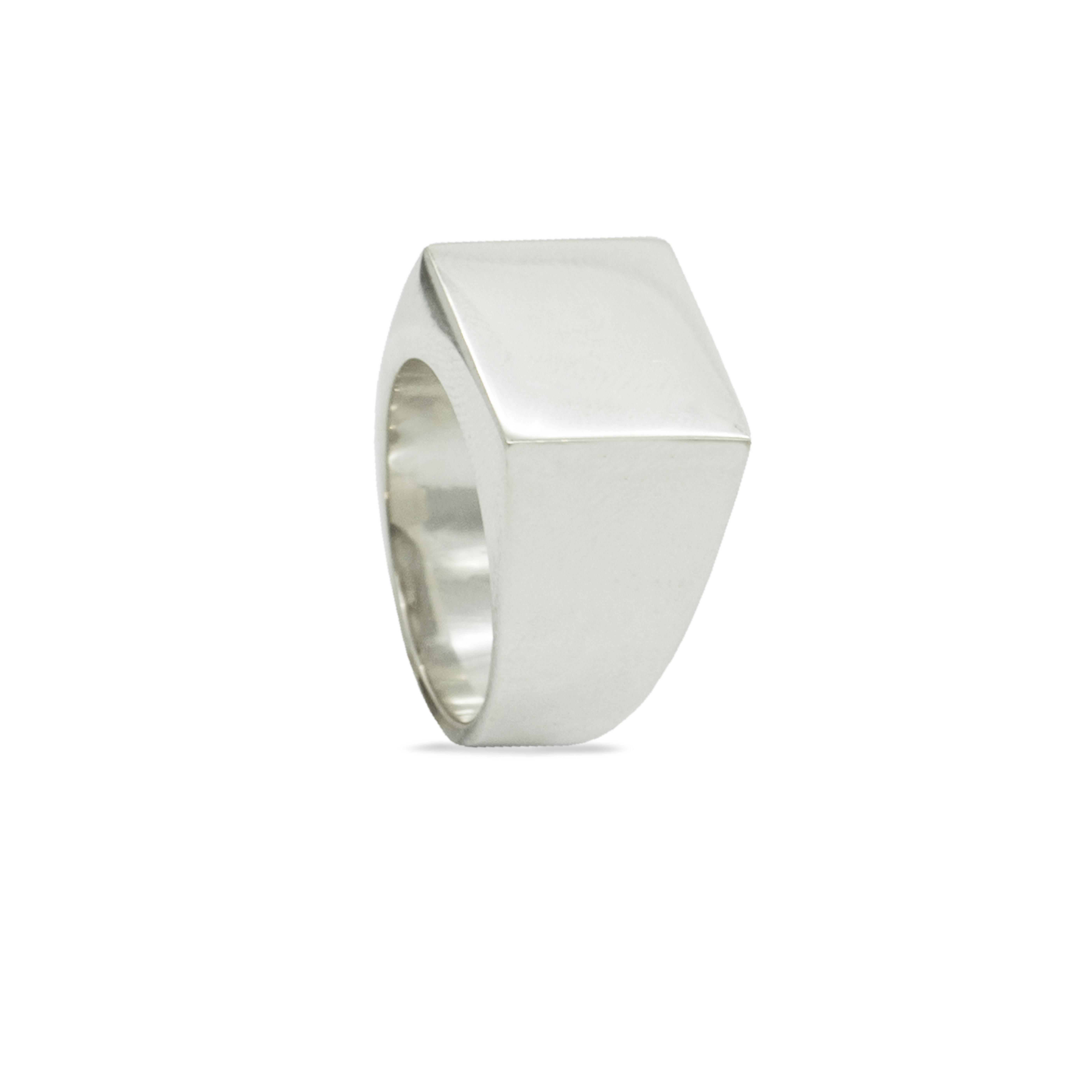 Astilio anello sigillo quadrato in argento 925 promozione Rawsen per la Festa del Papà