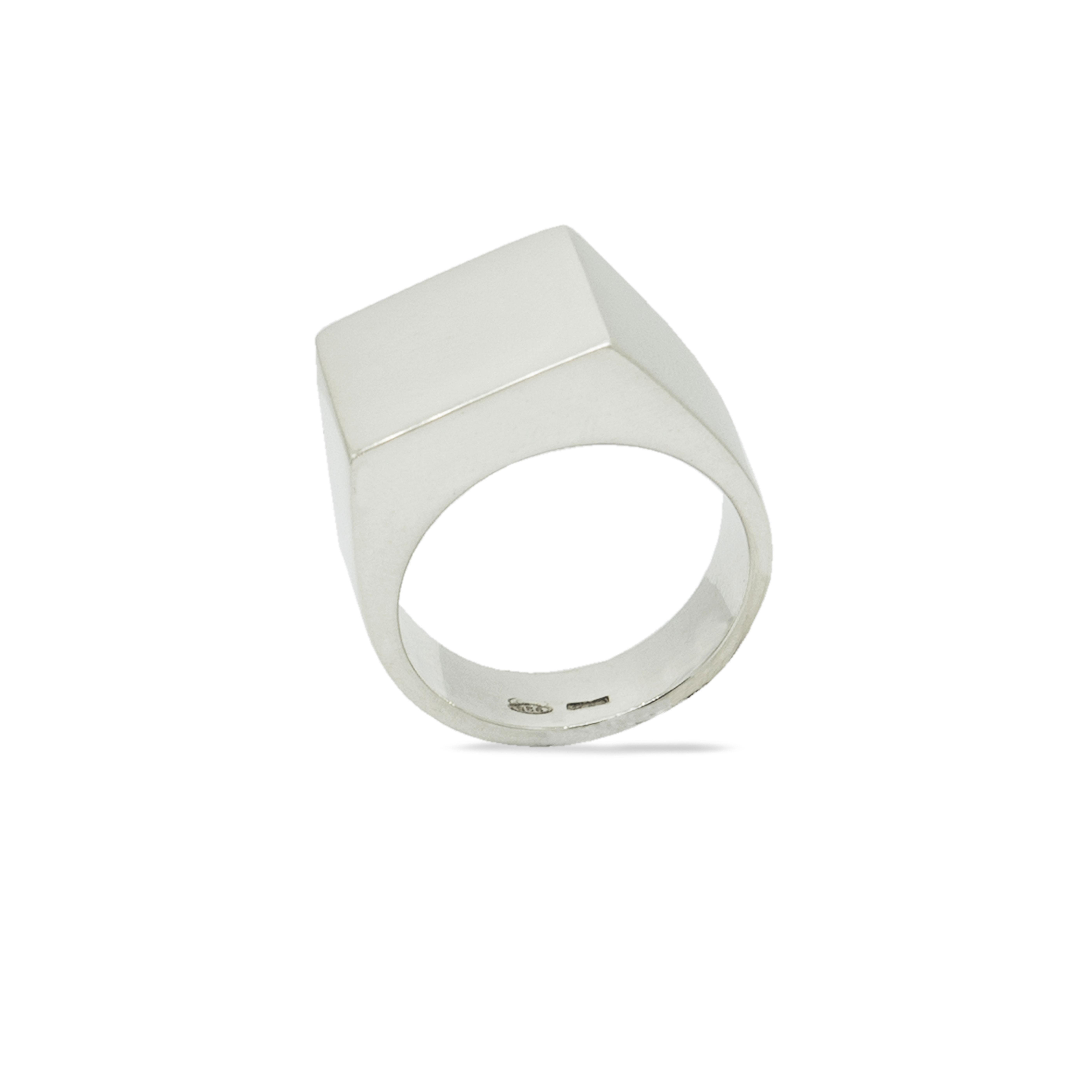 Astilio anello sigillo quadrato in argento 925 Rawsen