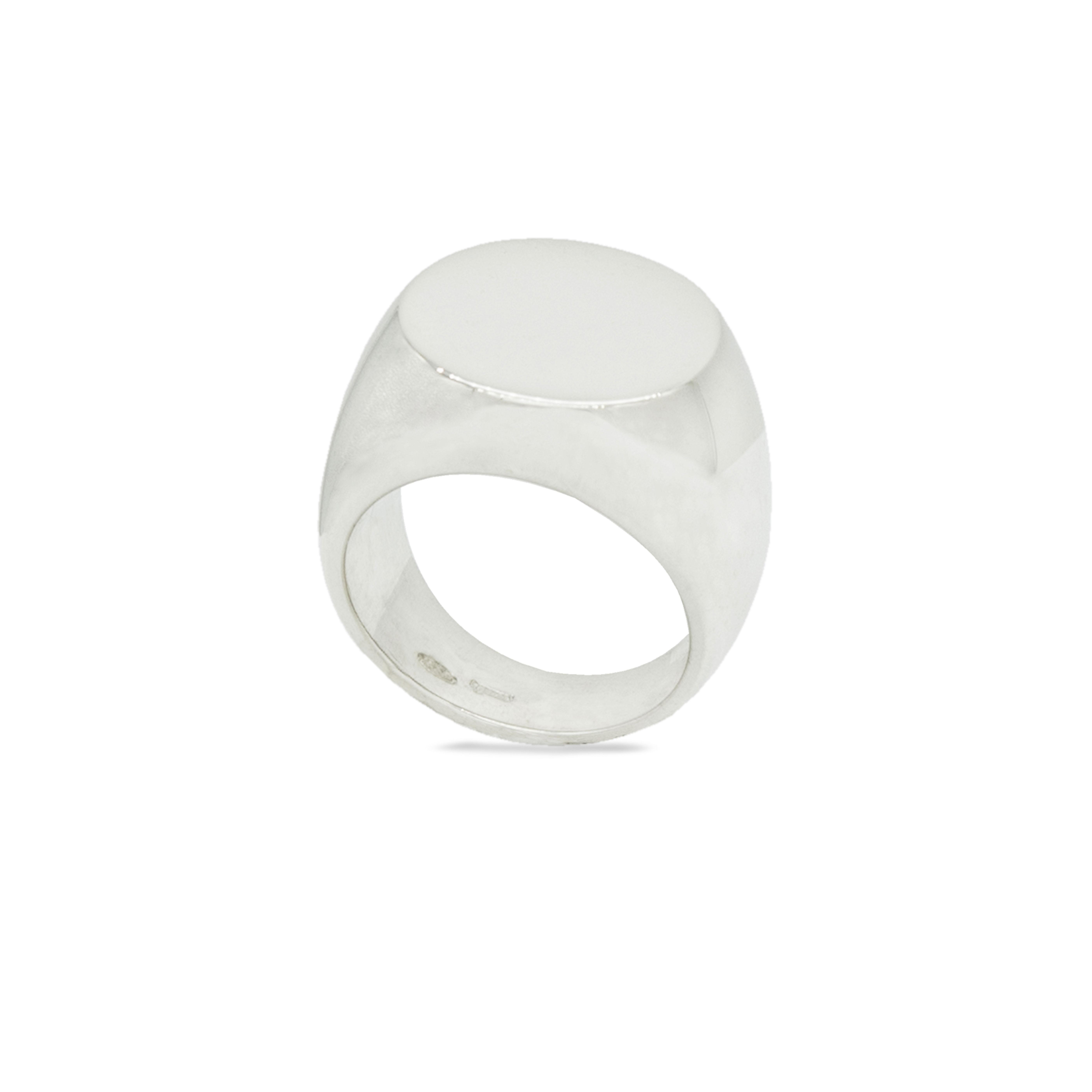 Metope anello sigillo in argento 925