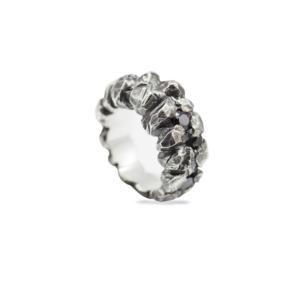 silver rings with gemstones zircon