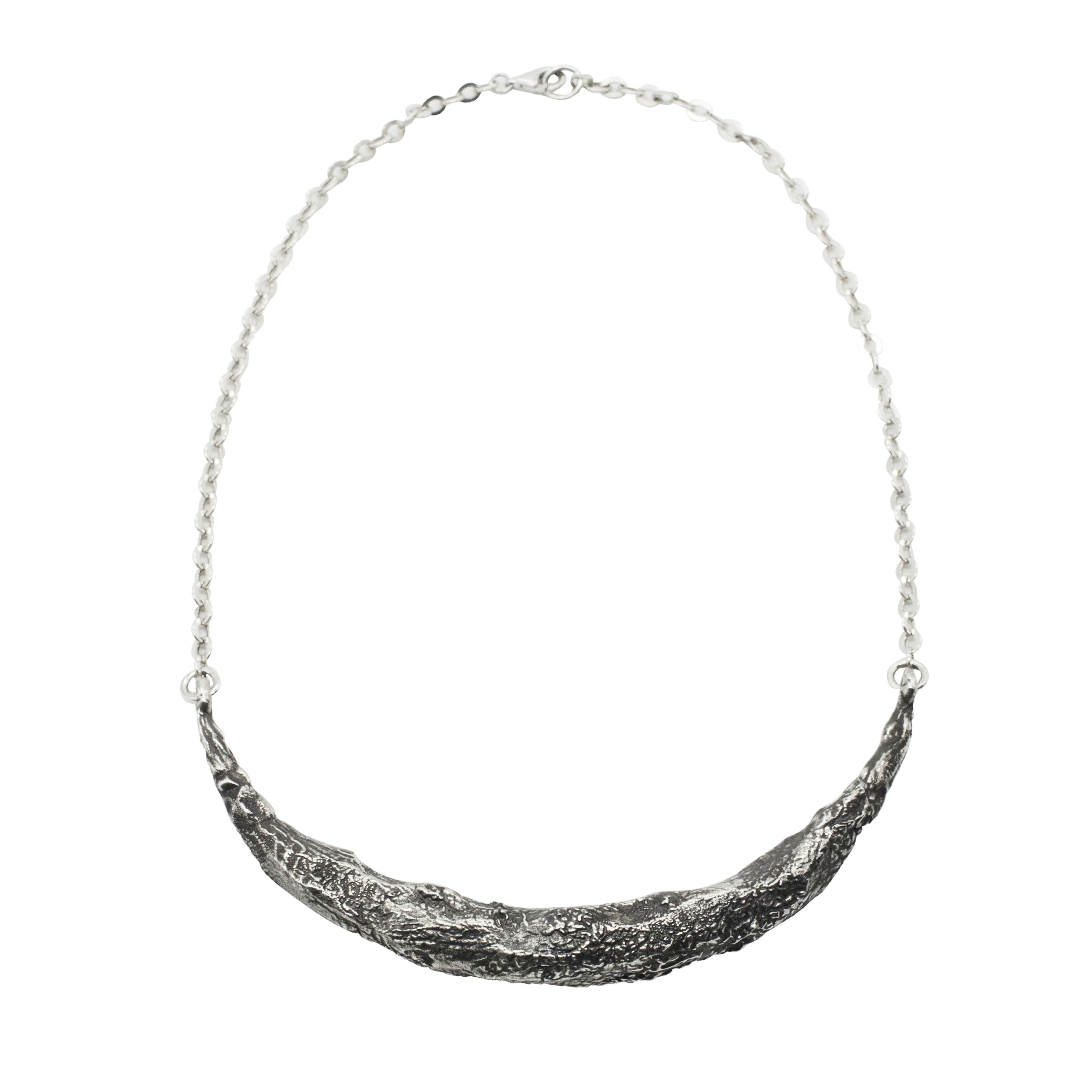 Collana mezza luna in argento 925