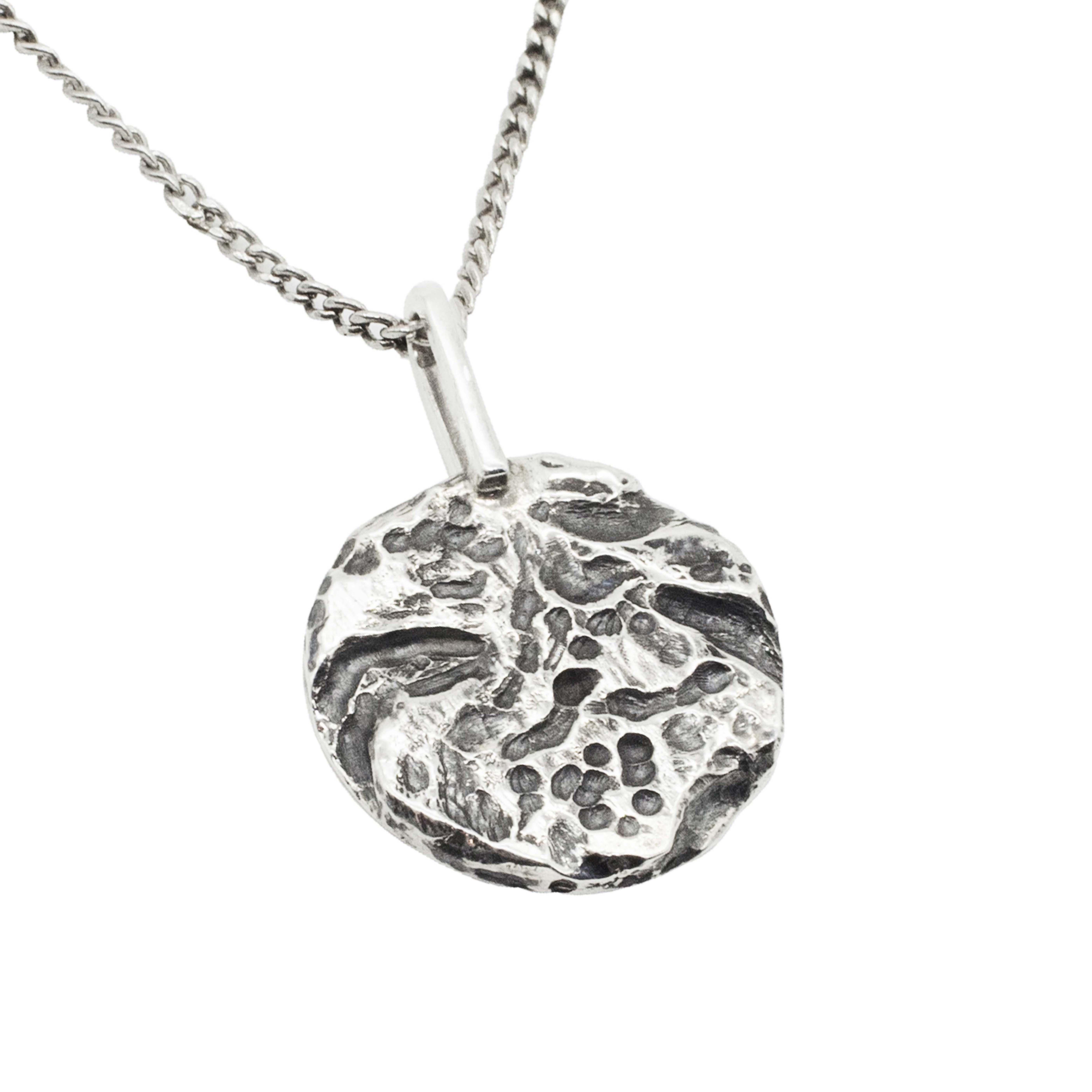 Collana con Medaglia in argento 925 Castore