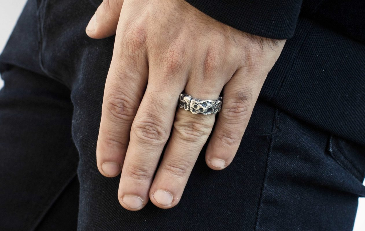 gioielli Rawsen-fascia in argento grezzo rawsen