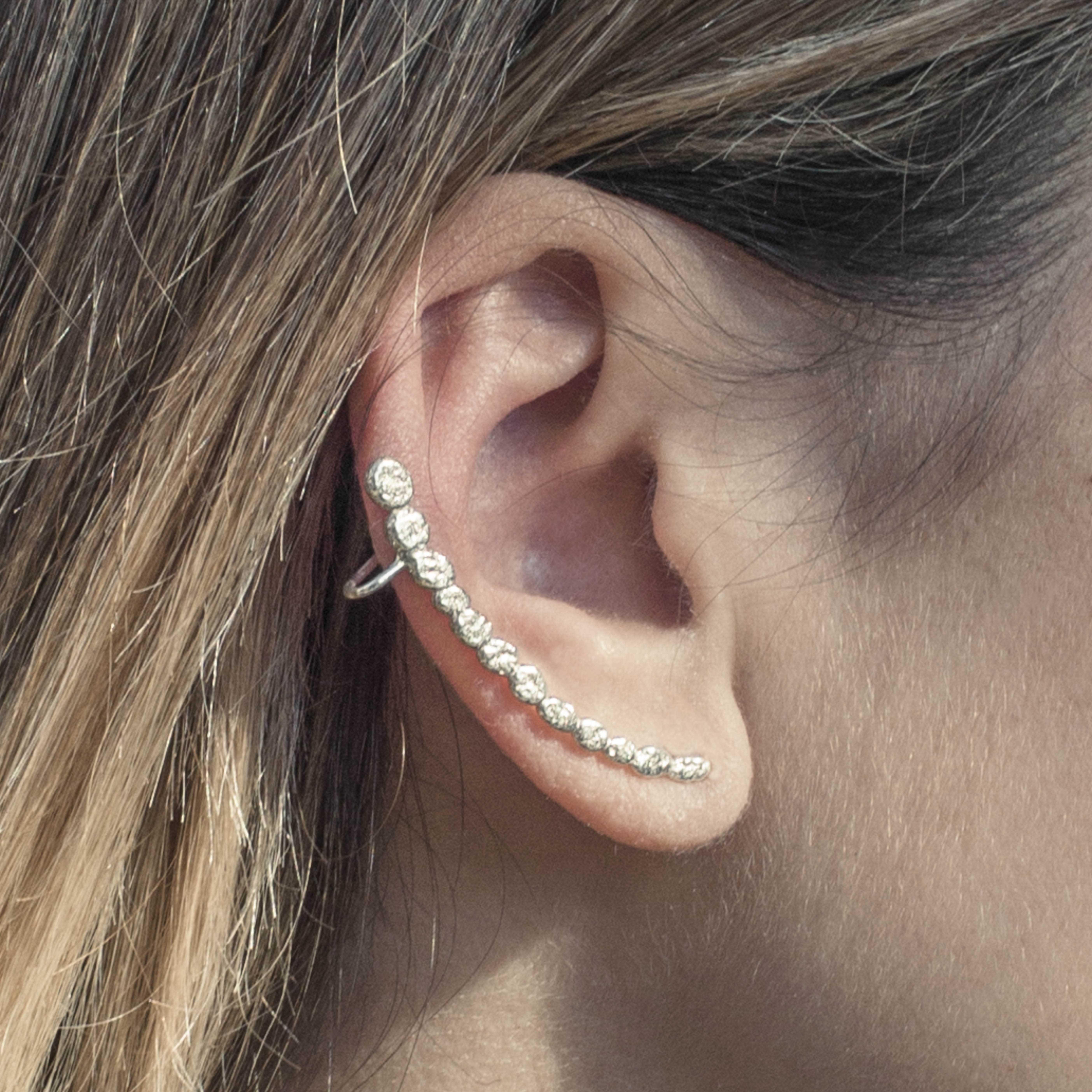 orecchino in argento rawsen